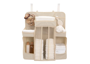 Delta Children Beige (250) Universal Hanging Organizer for Changing Tables | Diaper Caddy | Nursery Storage Silo View b2b