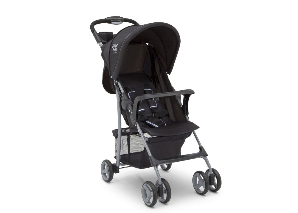 Little Folks Black (001) Classic Tour Stroller by Delta Children, Right Silo View