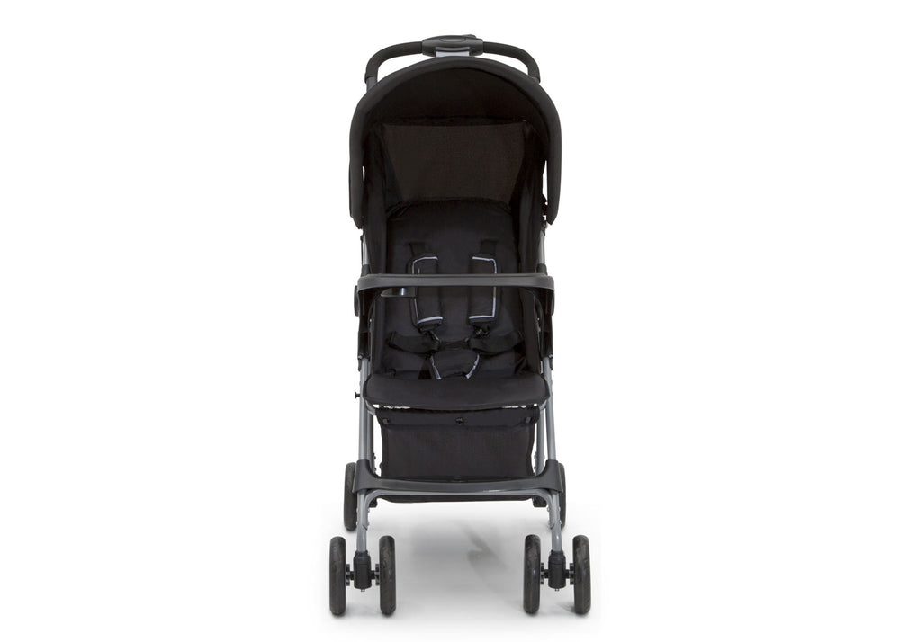 Little Folks Black (001) Classic Tour Stroller by Delta Children, Front Silo View