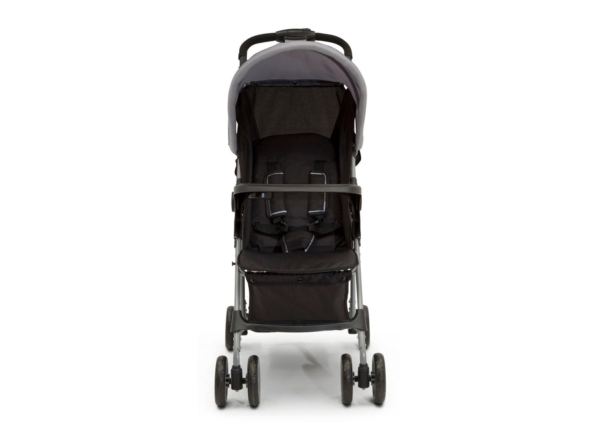 Little Folks Grey (2172) Classic Tour Stroller by Delta Children, Front Silo View