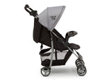 Little Folks Grey (2172) Classic Tour Stroller by Delta Children, Side Silo View