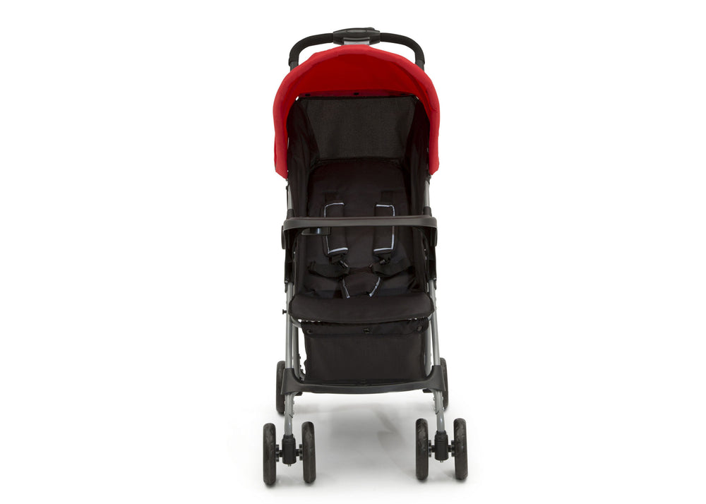 Little Folks Red (2173) Classic Tour Stroller by Delta Children, Front Silo View