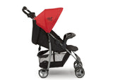 Little Folks Red (2173) Classic Tour Stroller by Delta Children, Side Silo View