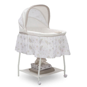 Little Folks Willow (2162) Silent Auto Gliding Bassinet by Delta Children, Right Silo View