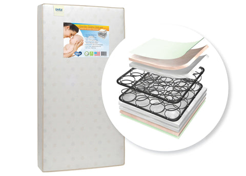 Gentle Stars Deluxe Crib & Toddler Mattress