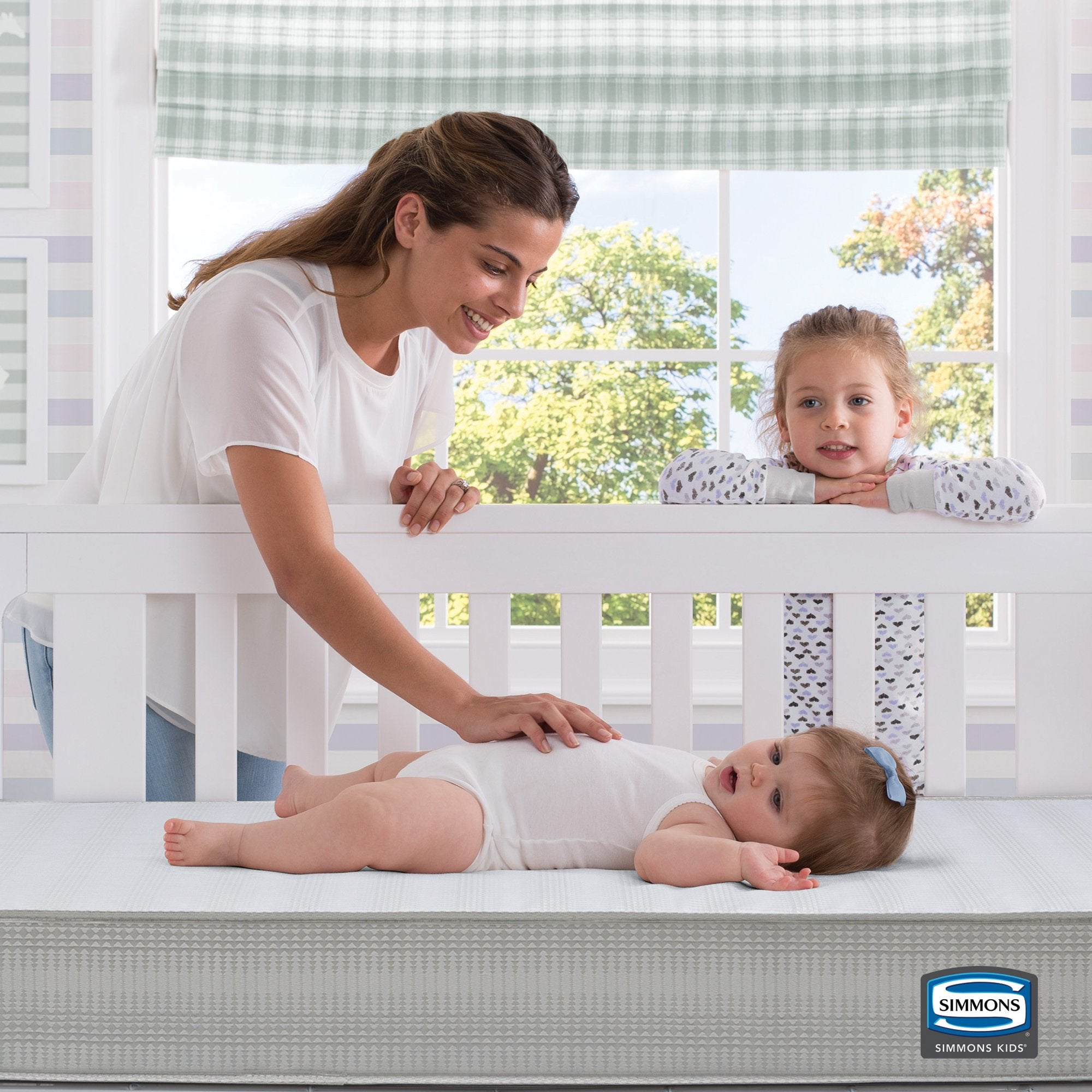 Beautyrest Silver Slumber Nights Crib and Toddler Mattress, Lifestyle View