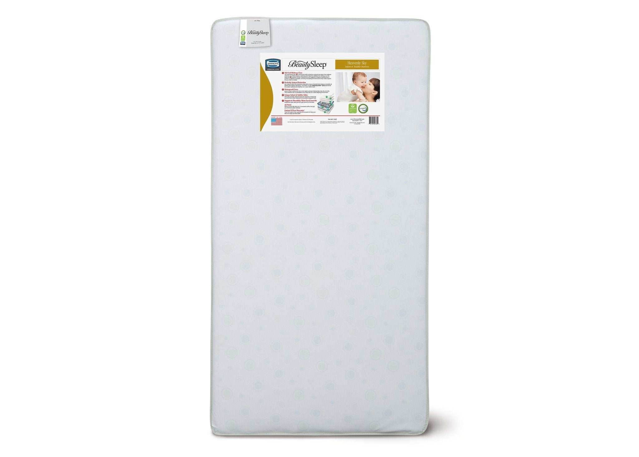 Simmons Kids Heavenly Sky Infant & Toddler Mattress Front View a4a No Color (NO)