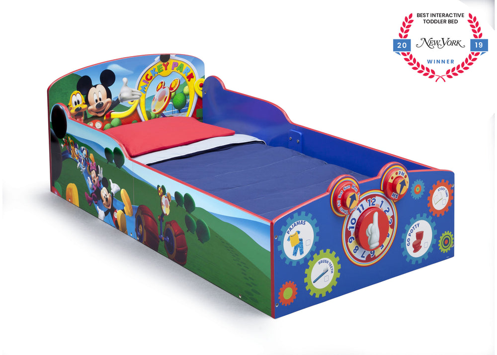 Delta Children Style 1 (1051) Mickey Mouse Interactive Toddler Bed (BB86929MM) Badge Silo