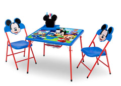 Disney Mickey Mouse (1053) 4-Piece Kids Furniture Set (99528MM), Table and Chairs, a3a