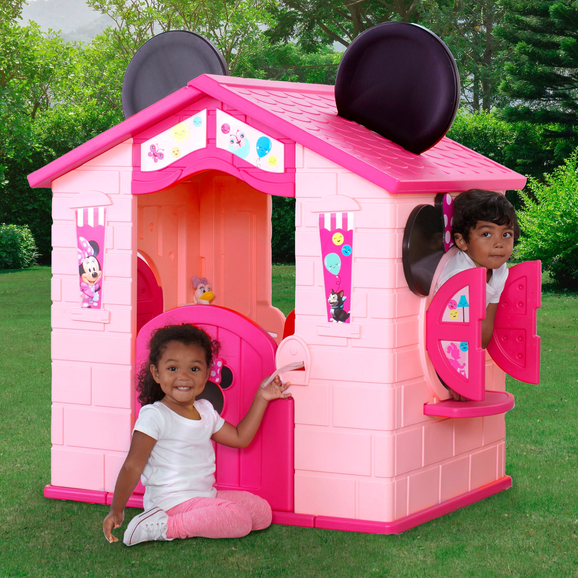 Minnie Mouse Plastic Indoor/Outdoor Playhouse with Easy Assembly