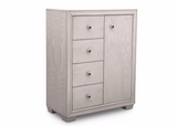 Ravello 4 Drawer Combo Chest (Antique White) - bundle