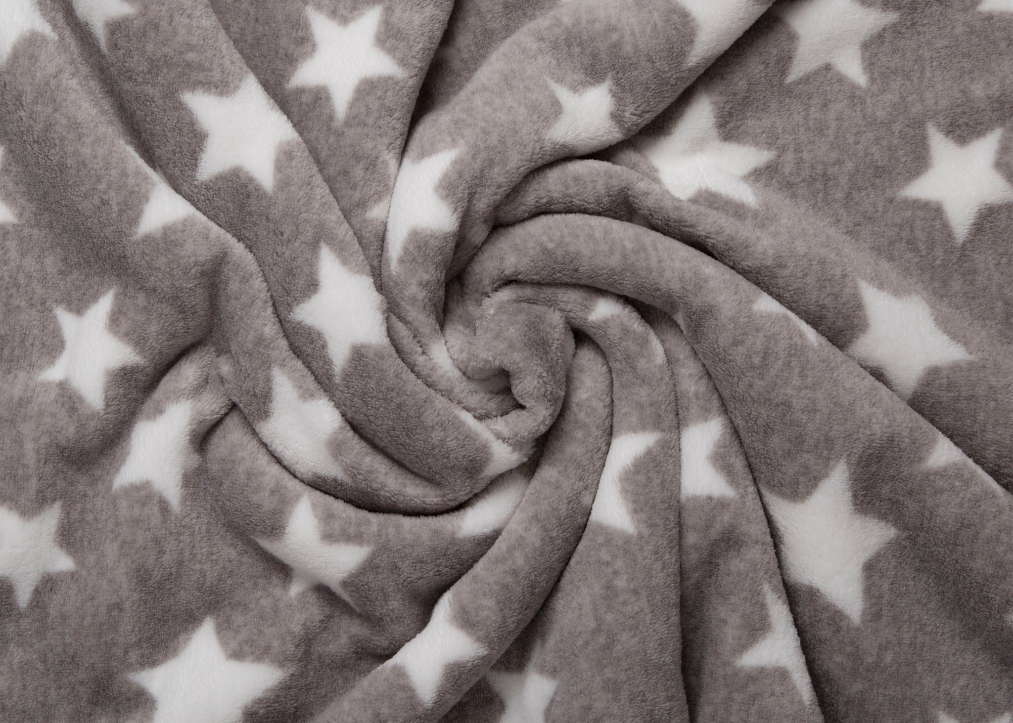 Delta Children Soft Fleece Baby Blanket for Strollers Grey Stars (4006) Detail Front View a5a