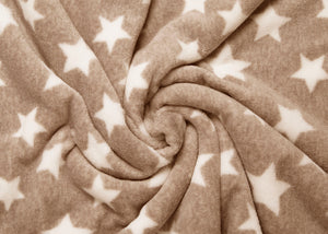 Delta Children Soft Fleece Baby Blanket for Strollers Beige Stars (4007) Detail Front View b5b
