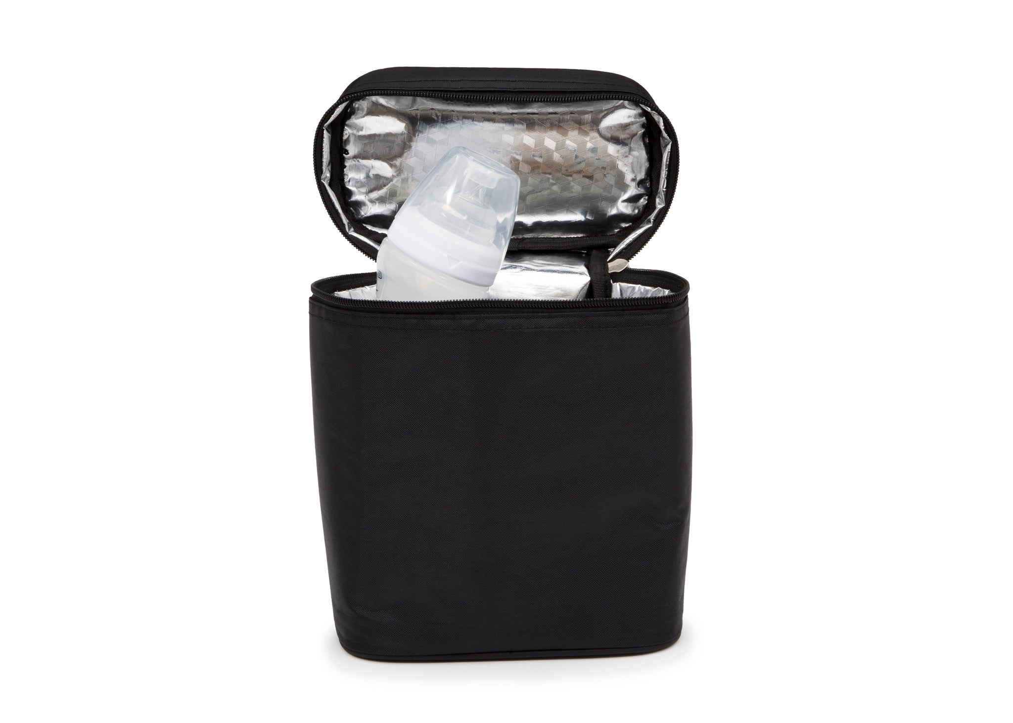 Delta Children Insulated Double Bottle Bag Black (001), Front Prop View a2a
