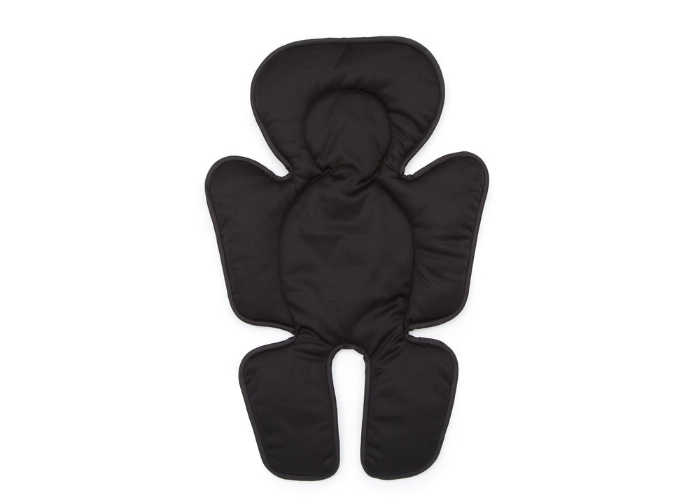 Delta Children Black (001) Universal Cushioned Knit Stroller Liner Front View a1a