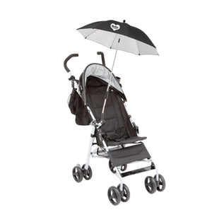 Delta Children Black (001) Clip-On Universal Stroller Umbrella with UV Protection, Black Silo View a3a