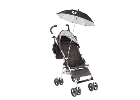 Clip-On Universal Stroller Umbrella with UV Protection, Black