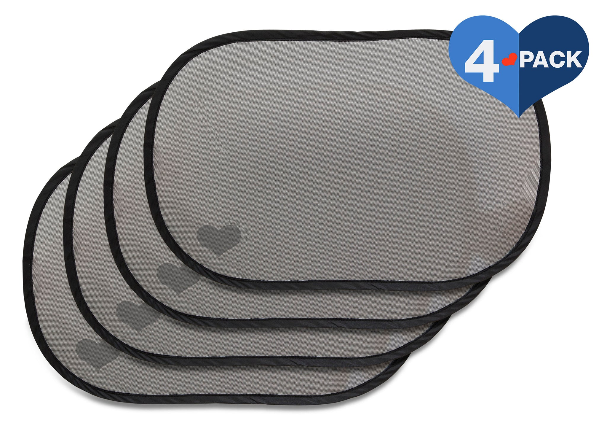 Delta Children Car Window Sun Shades (4-Pack), Main View Black (001)