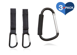 Delta Children Stroller Hook Set (3-Pack), Main View Black (001)