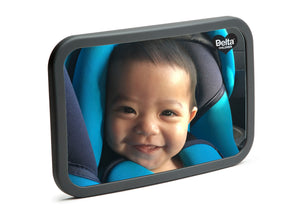 Delta Children Black (001) Baby Backseat Mirror for the Car Silo with Model View a1a
