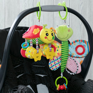 Delta Children Stroller/Car Seat Activity and Teething Toys for Babies, 2-Piece Set, Butterfly & Ladybug (999), Lifestyle View