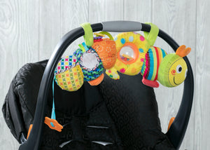 Delta Children Stroller/Car Seat Activity and Teething Toy for Babies, 1-Piece Set, Caterpillar (999), Lifestyle View