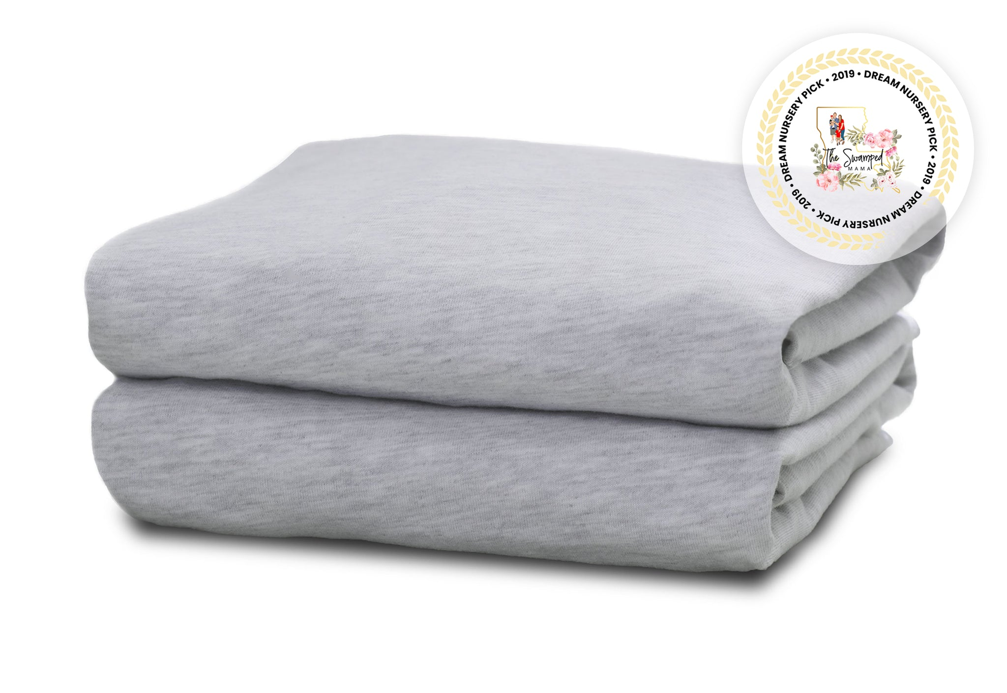 Delta Children Heather Grey (053) Fitted Crib Sheet Set – 2 Pack Mattress Folded View