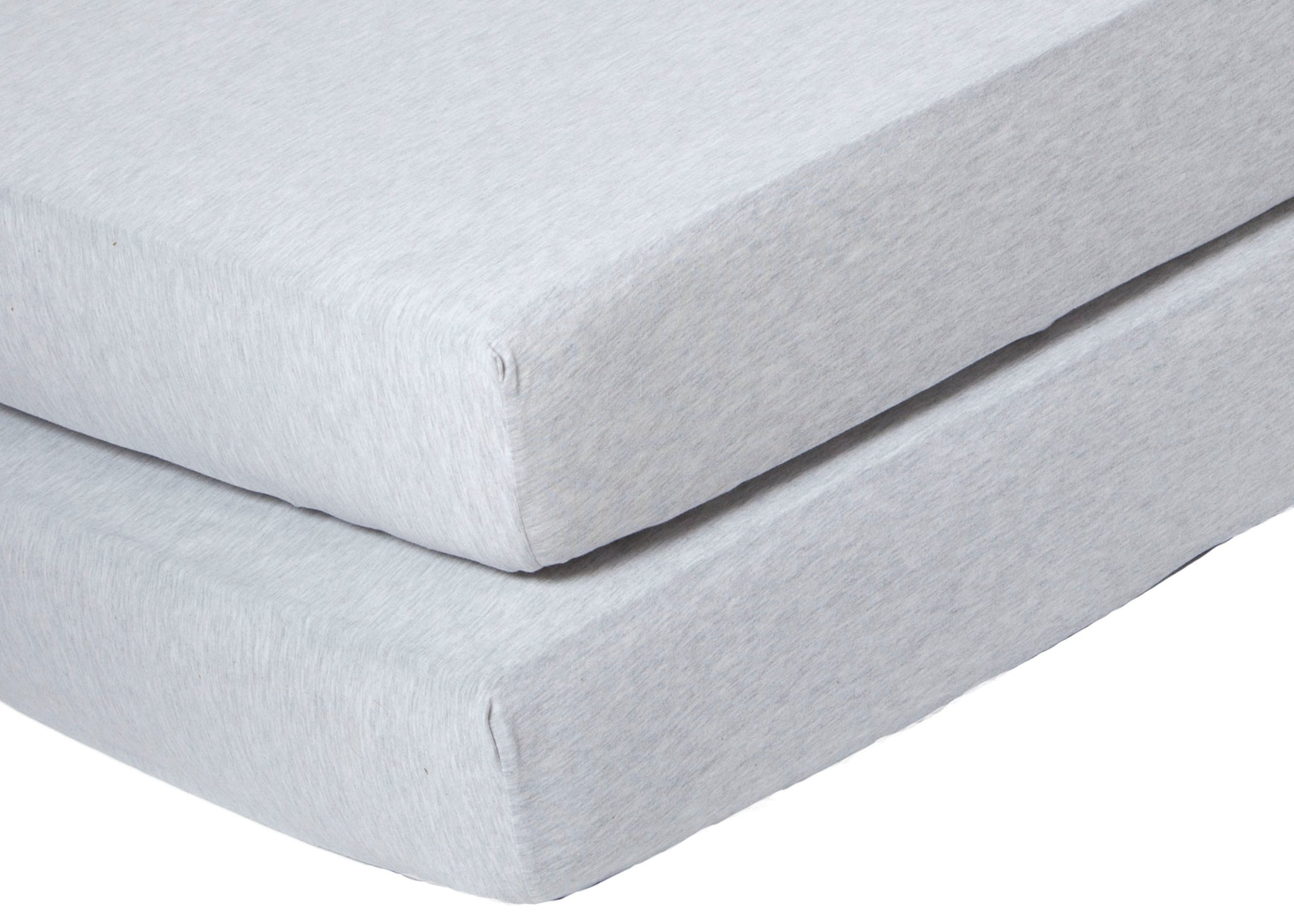 Delta Children Heather Grey (053) Fitted Crib Sheet Set – 2 Pack Mattress Detail View