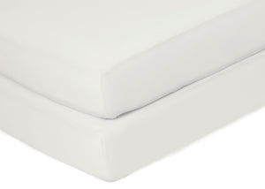 Delta Children Ivory (124) Fitted Crib Sheet Set – 2 Pack Mattress Top Detail View