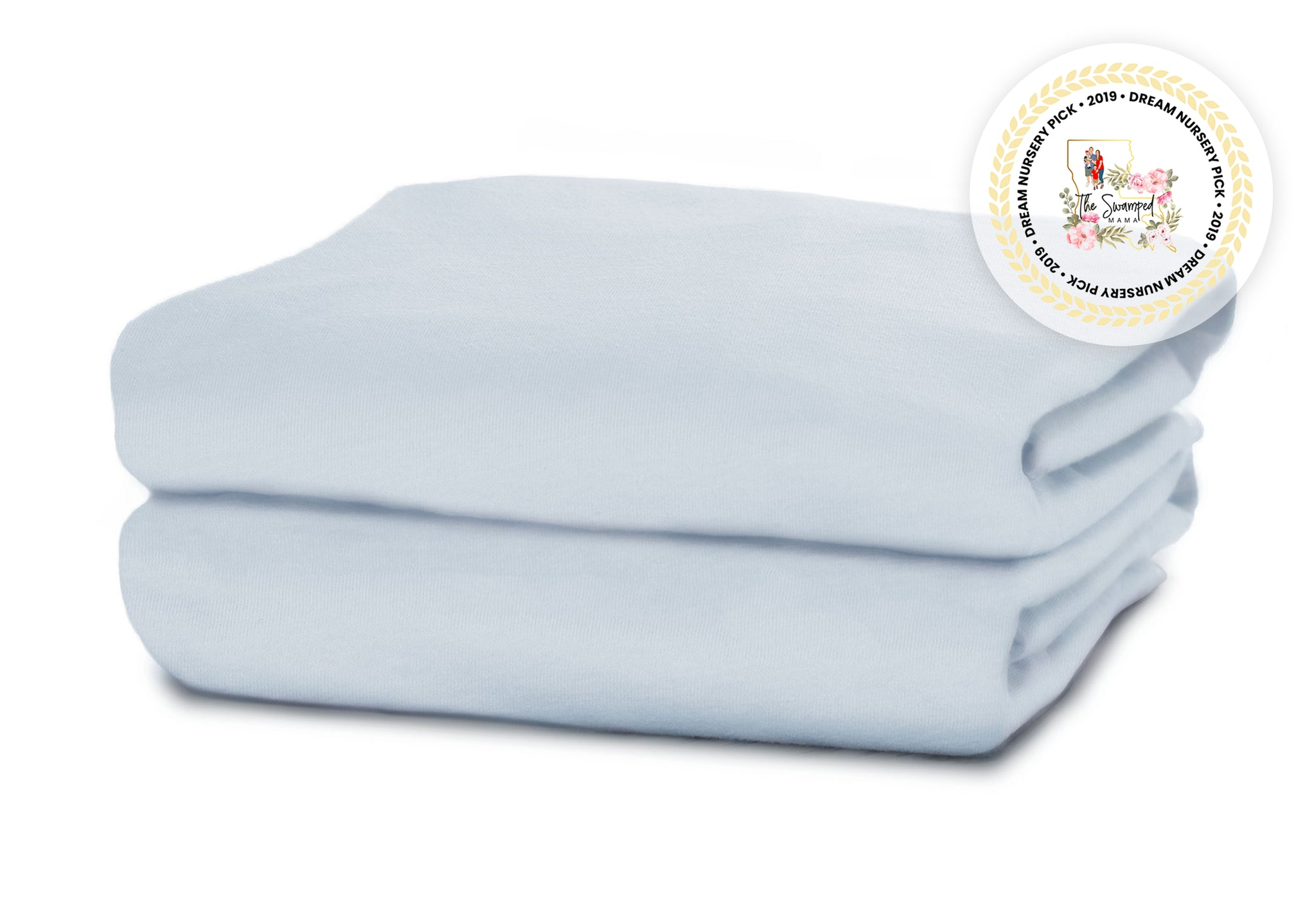 Delta Children Baby Blue (470) Fitted Crib Sheet Set – 2 Pack Folded View