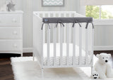 Delta Children Grey (026) Waterproof Fleece Crib Rail Covers/Protectors for Short Side Rails, 2 Pack, Lifestyle View