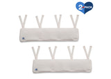 Delta Children Ivory (124) Waterproof Fleece Crib Rail Covers/Protectors for Short Side Rails, 2 Pack, Main View
