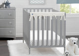 Delta Children Ivory (124) Waterproof Fleece Crib Rail Covers/Protectors for Short Side Rails, 2 Pack, Lifestyle View