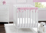 Delta Children Pink (654) Waterproof Fleece Crib Rail Covers/Protectors for Short Side Rails, 2 Pack, Lifestyle View