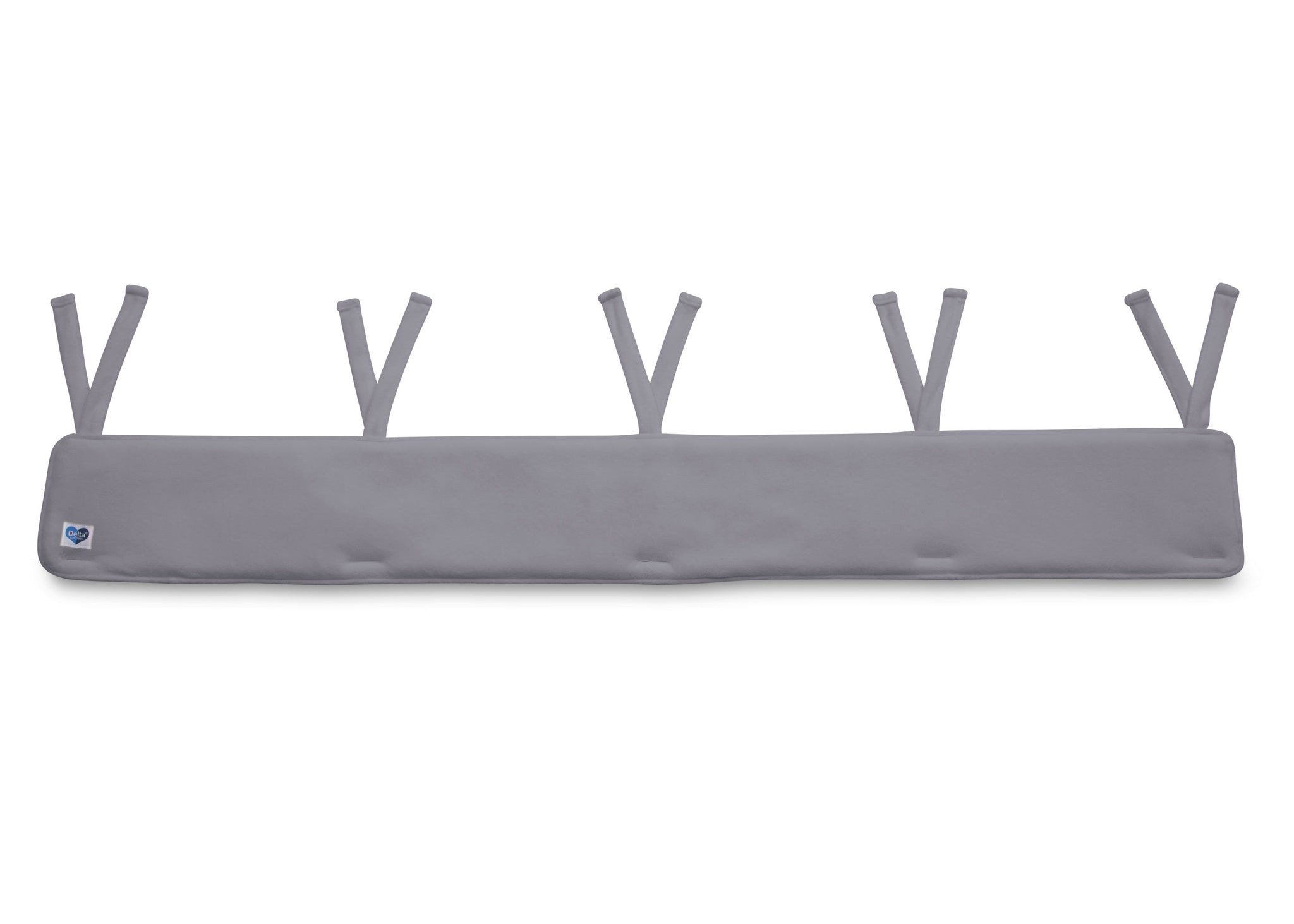 Delta Children Grey (026) Waterproof Fleece Crib Rail Cover/Protector for Long Front or Back Rail, 1 Pack, Main View