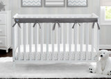 Delta Children Grey (026) Waterproof Fleece Crib Rail Cover/Protector for Long Front or Back Rail, 1 Pack, Lifestyle View