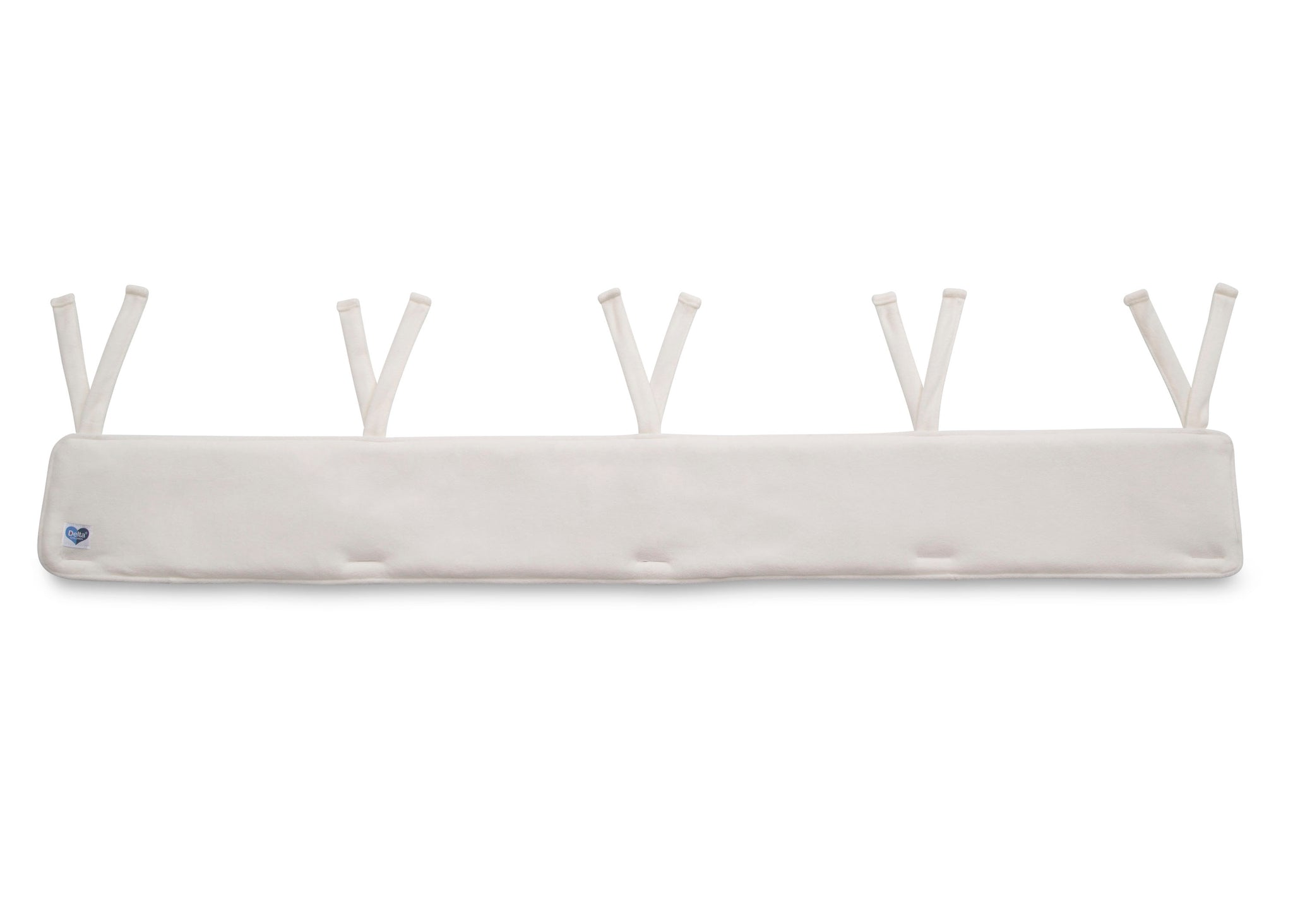 Delta Children Ivory (124) Waterproof Fleece Crib Rail Cover/Protector for Long Front or Back Rail, 1 Pack, Main View