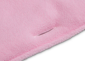 Delta Children Pink (654) Waterproof Fleece Crib Rail Cover/Protector for Long Front or Back Rail, 1 Pack, Front Slit Close Up View