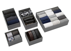 Delta Children Grey (026) Set of 5 Storage Organizers, Main View