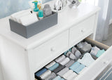 Delta Children Grey (026) Set of 5 Storage Organizers, Dresser Lifestyle View