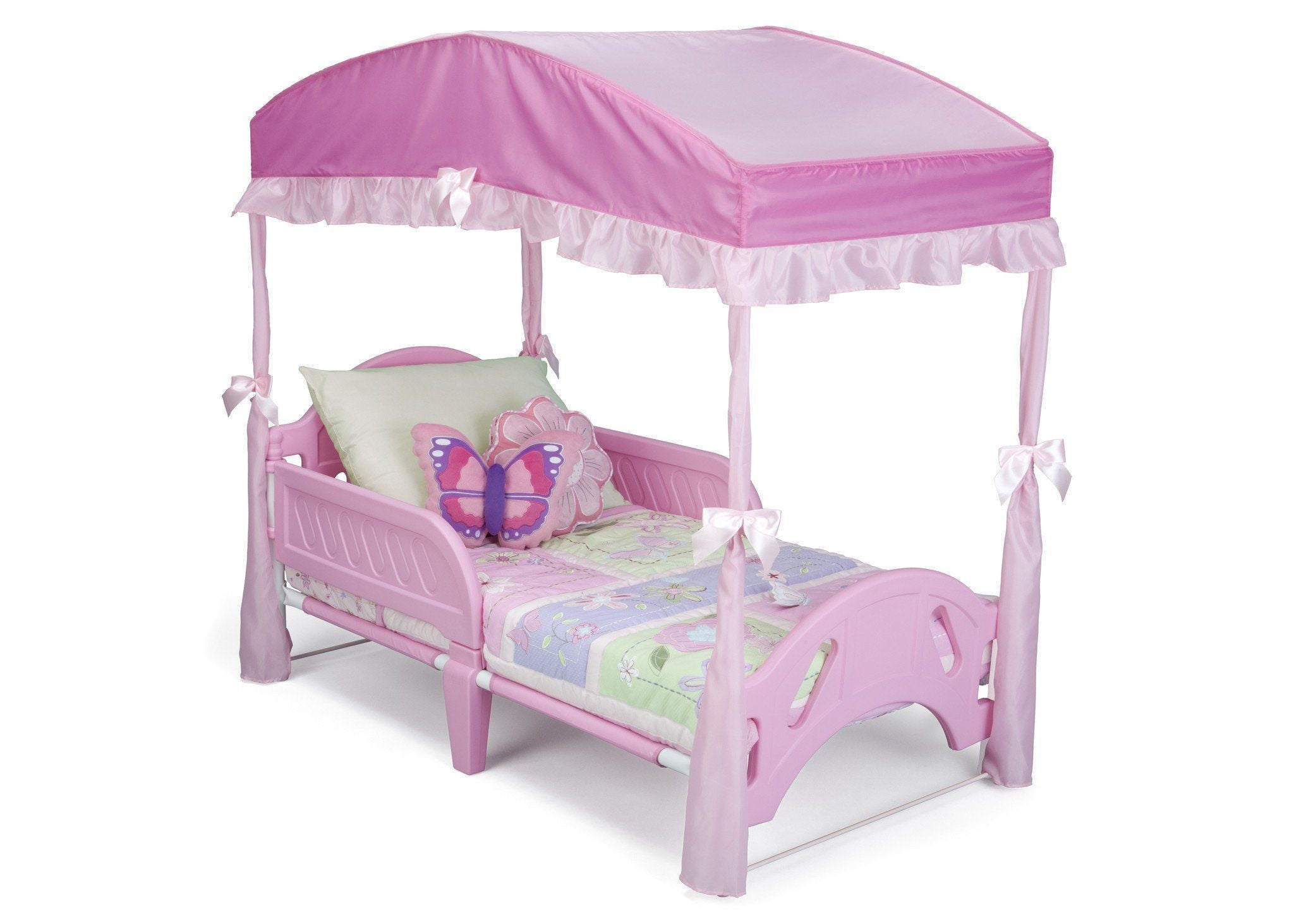 Delta Children Toddler Bed Canopy Pink (660) Style 2 Right Side View b2b