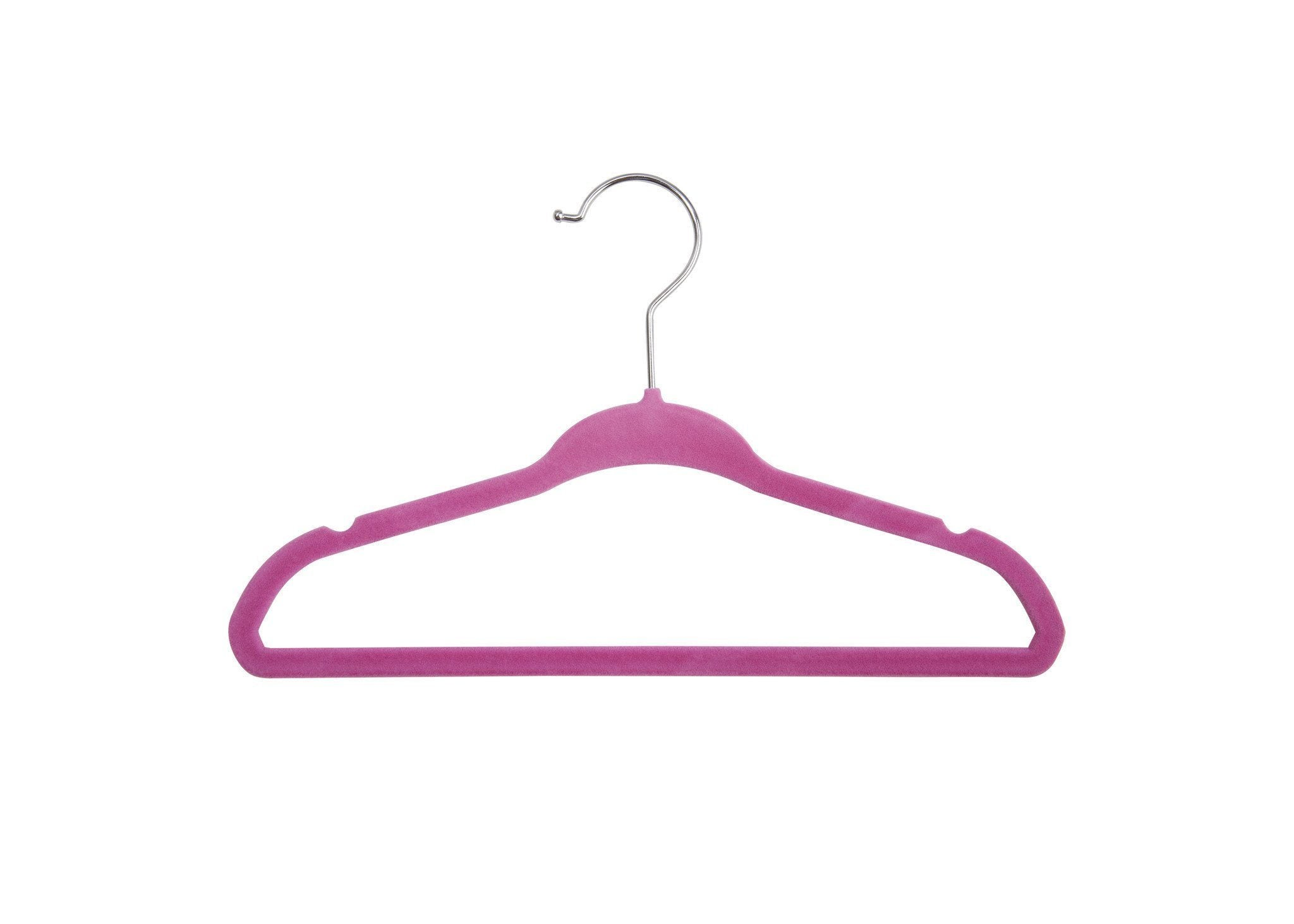 Delta Children Barely Pink (689) 5 Pack Velvet Hangers, Single View c1c