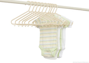 Delta Children Beige (250) 10 Pack Basic Hangers with Setting b2b