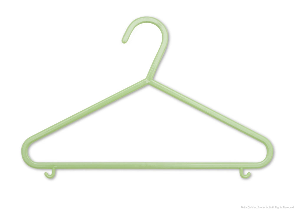 Delta Children Hush Green (333) 10 Pack Basic Hangers c1c