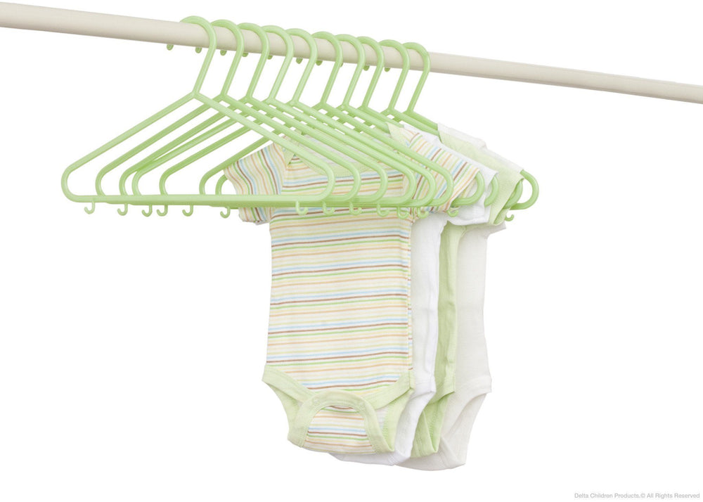 Delta Children Hush Green (333) 10 Pack Basic Hangers with Setting c2c