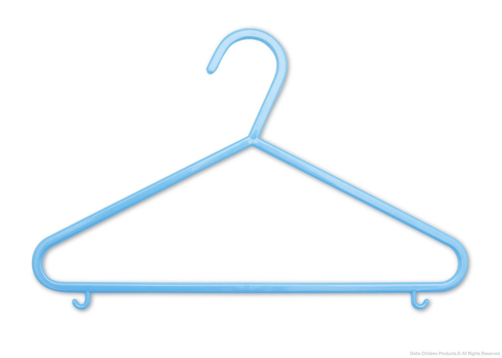 Delta Children Baby Blue (470) 10 Pack Basic Hangers d1d