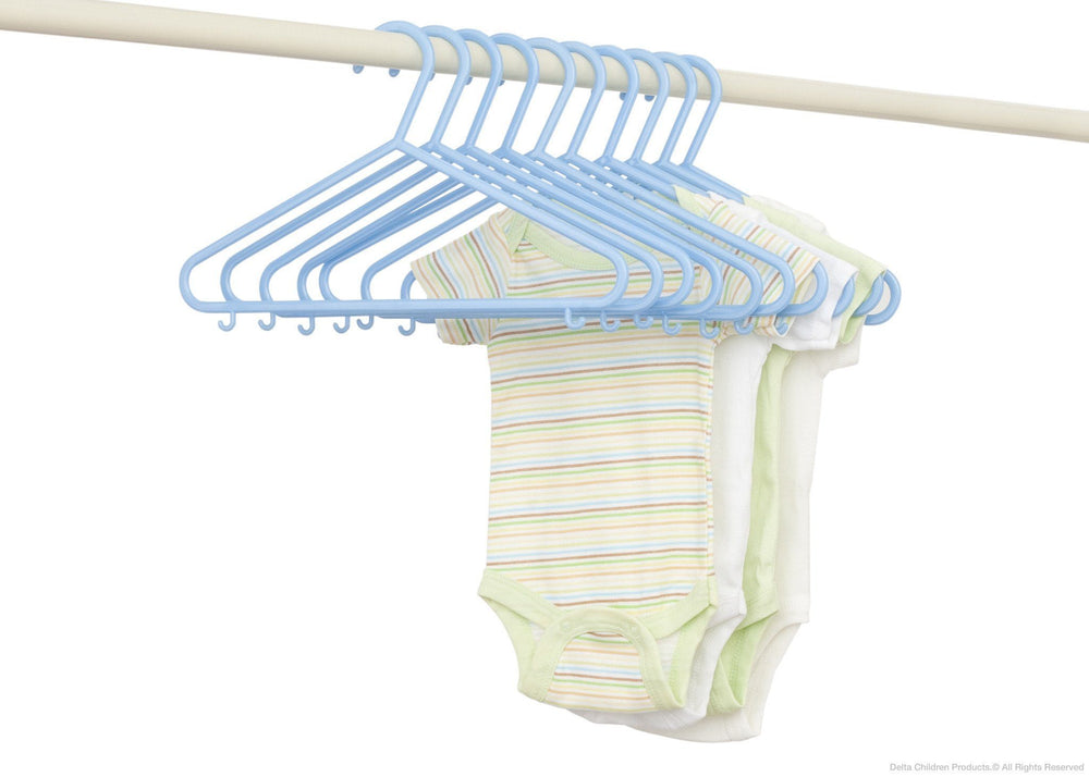 Delta Children Baby Blue (470) 10 Pack Basic Hangers with Setting d2d