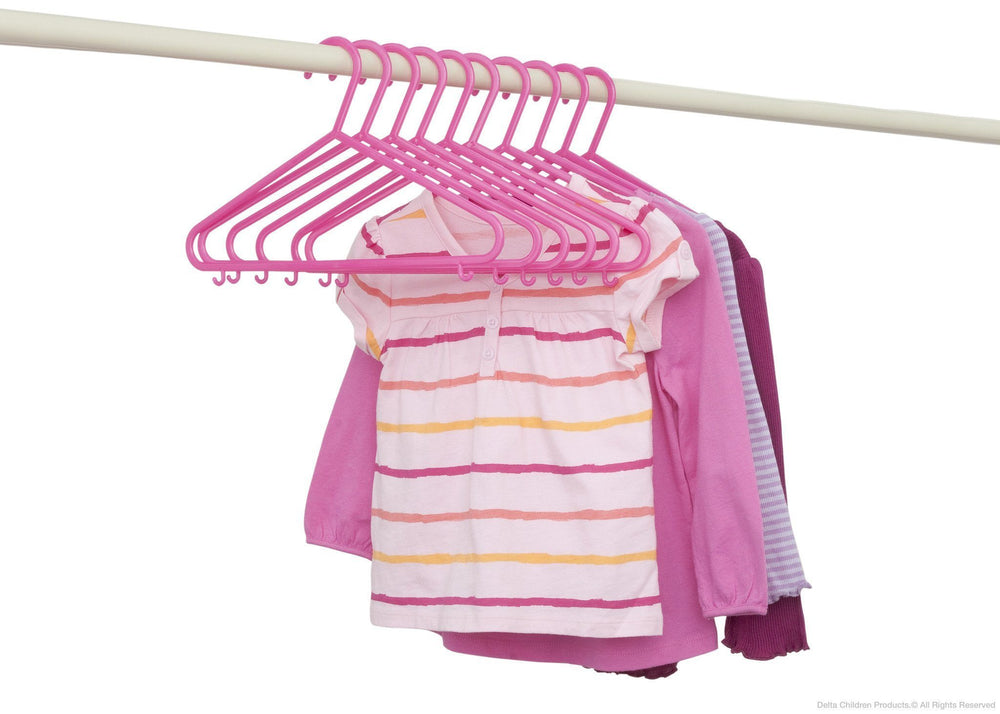 Delta Children Pop Diva (670) 10 Pack Basic Hangers with Setting e2e