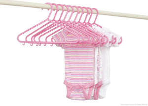 Delta Children Barely Pink (689) 10 Pack Basic Hangers with Setting f2f