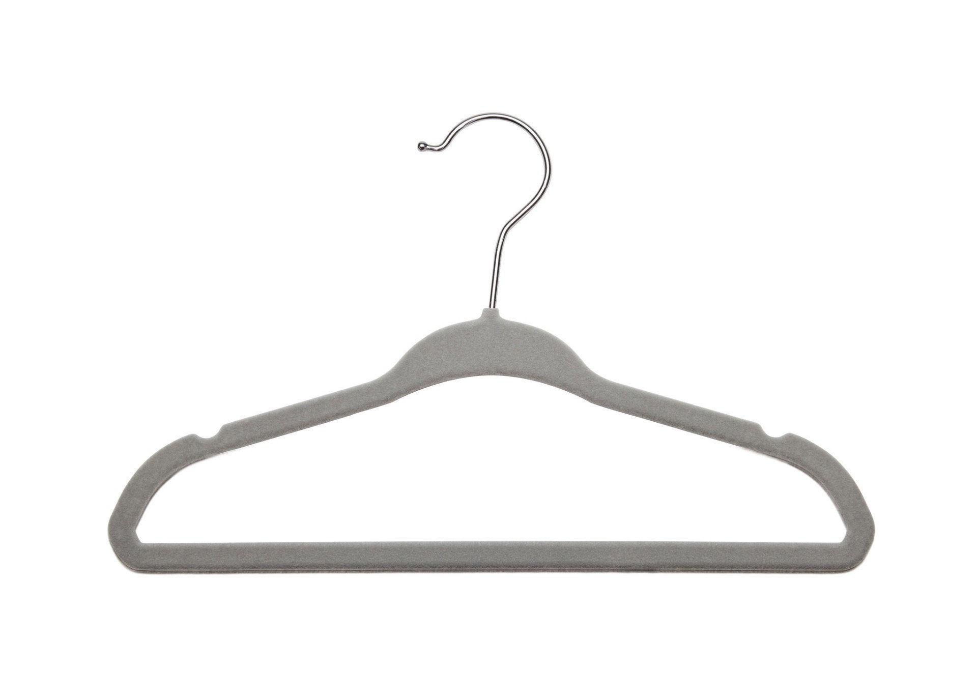 Delta Children Dove Grey (058) 5 Pack Velvet Hangers, Single View a1a